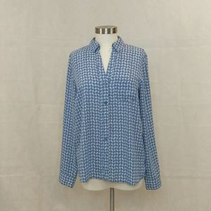 The Limited Blue & White Blouse